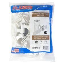 Fi-Shock IWTNW-FS Poly Tape Wood Post Insulator, White