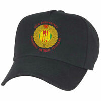 50th Anniversary Vietnam War Hat Black