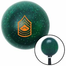 Orange 07 Master Sergeant Green Metal Flake Shift Knob with 16mm x 1.5 Insert