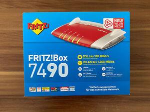 AVM FRITZBox 7490 VDSL DSL Modem ISDN 4-Port Gigabit WLAN Router.ungeöffnete OVP