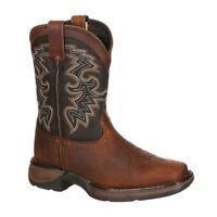 DWBT050 Durango Youth 8 Inch Western Cowboy Boot - Tan & Midnight NEW
