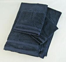 """Threshold 2 Washcloths 2 Hand Towels Cotton """"Xavier Navy"""""""