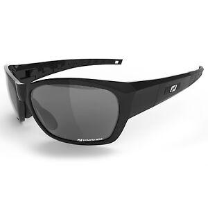Daisan Sonnenbrille Sportbrille schwarz polarisierende Scheiben D2091