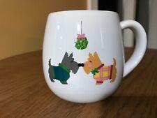 Caribou Coffee Mistletoe Kisses Schnauzer Dog/Puppy Nose kisses Mug 2018 Holiday