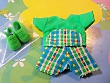 Kelly Chelsea Tommy Doll Clothes *Green Blue Plaid Short Outfit & Tennis Shoes*