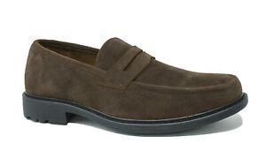 Mocassini uomo casual Scamosciati marrone ecopelle scarpe camoscio da 41 a 45