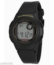 Casio F200W-9A Mens Black Resin Digital LCD Sports Watch w/ Illuminator NEW