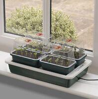 4 Electric Plant Propagator Seed Heated Tray Incubator Pots Greenhouse Indoor UK