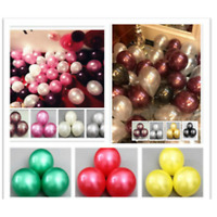 "10"" INCHES LATEX PEARLISED BALLOONS Christmas Party X-mas Decor Baloons balloons"