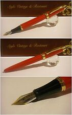 Stilografica Regal British Red Princess fountain pen - Stylo Lacquer