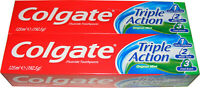 2 TUBES OF COLGATE TOOTHPASTE - TRIPLE ACTION TOOTH PASTE WITH FLUORIDE 125ML