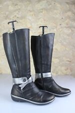 Boots DKODE Leather Black and grey metal Effect Used T 39 Very good condition