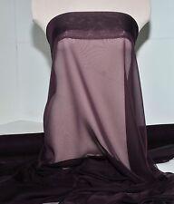 """Chiffon Fabric Eggplant 60"""" 1Yd Bridesmaid, Dance, Formal, Curtains,Decor"""