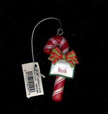 Candy Cane Ornament HEIDI Christmas Stocking Stuffer Holiday Gift Tag Teacher...