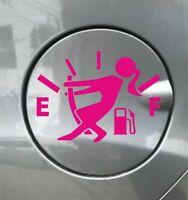 GIRL EMPTY FUEL vinyl sticker funny car decal van window graphics bumper girly