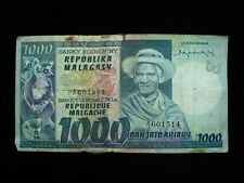 New listing Madagascar 1000 Francs 1974 P65 Malagasy Lemur 26# Currency Bank Money Banknote