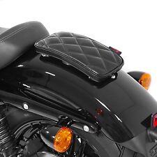 Selle Pouf passager pour Harley Dyna Super Glide à ventouses Diamond noir