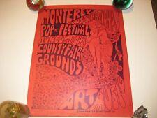 Rare Original 1967 Monterey International Pop Festival Poster Family Blues