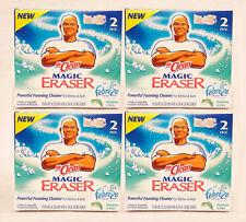 4 Mr. Clean Febreze Magic Eraser MEADOWS & RAIN Powerful Foaming Cleaner 2 PACK