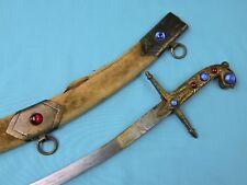 Antique Vintage Old Middle Eastern East Shamshir Sword w/ Scabbard