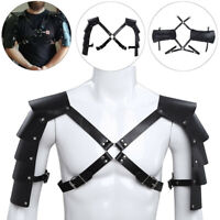 Leather Shoulder Armor Body Chest Harness Punk Strap Halloween Gothic Costume
