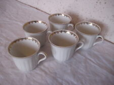 Lot de 5 tasses à café en porcelaine ADP France