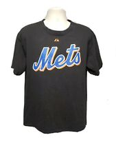 New York Mets Johan Santana 57 Adult Large Black TShirt