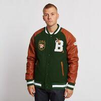 Men's Fashion Billionaire boys Club Varsity Real Leather Jacket - New Arrival