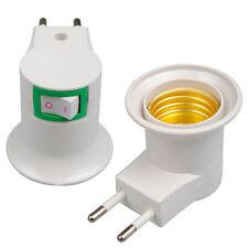 ON/OFF Lamp E27 Light Socket Bulb Base Holder Adapter Converter EU Plug