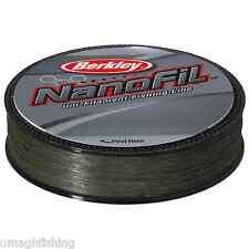 Berkley Nanofil 270m 274 3 M Bobines Uni basse Visibilité Vert Filament fil 12 649 Kg/0.20mm