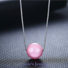 18K White Gold Plated Beautiful Natural Agate Pendant Necklace 142-Peach