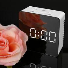 LED Spiegel Wecker Multifunction Digital Elektronische Temperatur Snooze Home