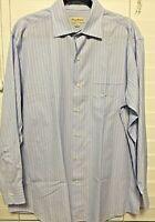 Tommy Bahama Men Size 16.5 32-33 Striped Button Down Shirt EUC 100% Cotton