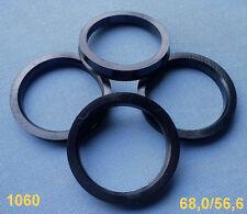 (1060) 4x  Zentrierringe Leichtmetallfelgen 68,0 / 56,6 mm schwarz für Alufelgen