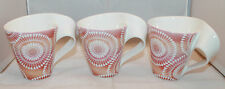 Villeroy and Boch New Wave Caffe Mombasa 3 pink Coffee Tea Mug Cups Set  2007