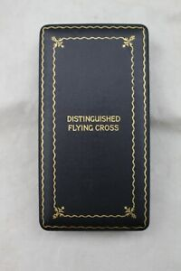 Original US WWII Distinguished Flying Cross Medal Presentation Case Navy & USMC