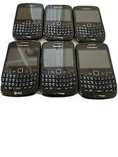 Lot Of 6 Blackberry 8520 Curve (5) Verizon (1) AT&T Smartphones-Parts or Repairs