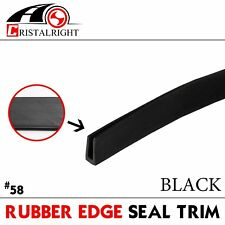 20ft Black U Channel Rubber Seal Edge Trim Molding Strip Car Window Door Guard