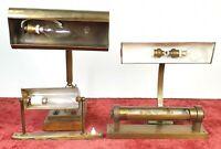 SET DE 4 LAMPE ET APPLIQUES. METAL PRINCIPES DU XX SIECLE.