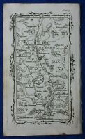 Rare antique road map, HERTFORDSHIRE, WELWYN, STEVENAGE, M. Armstrong, 1776