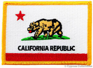 CALIFORNIA STATE FLAG embroidered iron-on PATCH EMBLEM applique republic emblem