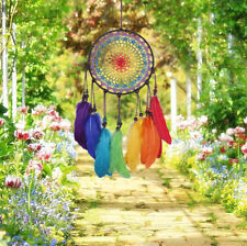 Large Rainbow Dream Catcher Garden Outdoor Home Decor Native American Ornament