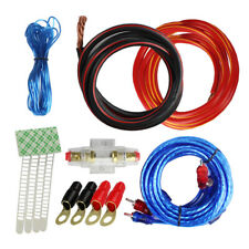 2 Gauge Audio Amp Kit - Car Stereo Amplifier Power Wire & Rca Cable Agu Fuse 12V