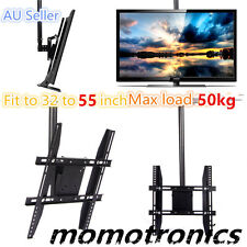 Black Tilt & 360 Swivel TV LCD LED Ceiling Mount Bracket 32' TO 55' AU SELLER