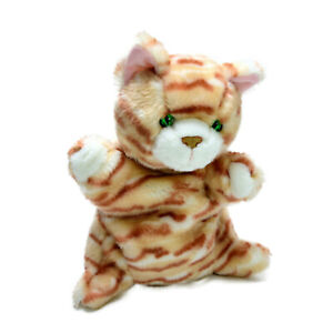 Bauer Cat Plush Hand Puppet Green Eyes Soft Stuffed Animal Toy Washed 27cm