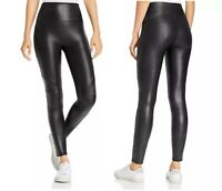 NEW SPANX FASHION SEXY FAUX LEATHER QUILTED BLACK LEGGING PANTS S M L XL