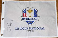 JORDAN SPIETH signed 2018 RYDER CUP Pin Flag - EMBROIDERED - Masters