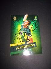 Josh Hazelwood (Australia) signed ODI Cricket Card + COA