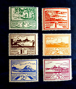 1943 JERSEY, GERMAN OCCUPATION OF THE CHANNEL ISLANDS.   SG3/SG8