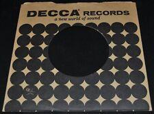 "2x 45 rpm DECCA brown dots company sleeve LOT original record sleeves 7"""